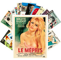 Postcards Pack [24 cards] BRIGITTE BARDOT Vintage Movie Posters CC1353