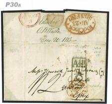 DBP30a Great Britain 1813 Edinburgh Early Addn Half/Stratford Essex {samwells}