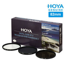 HOYA 82mm DIGITAL FILTER KIT II HMC UV+Silm CPL+ND8+Pouch For Camera Lens