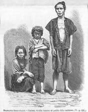 BIRMANIE BURMA MYANMAR VIEILLE FEMME KAREN KARIANG GRAVURE IMAGE 1875