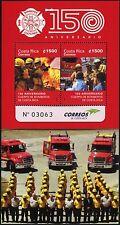 Costa Rica 2015 Feuerwehr Fire Brigade Bomberos Block Postfrisch MNH