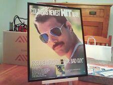"""Big 11X14 Framed Freddie Mercury (Queen) """"Mr. Bad Guy"""" Lp Album Cd Promo Ad"""