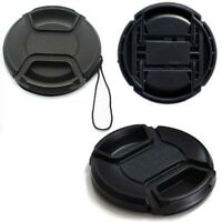 62mm Center-Pinch Snap-on Front Lens Cap Cover for Canon Nikon DSLR Cameras