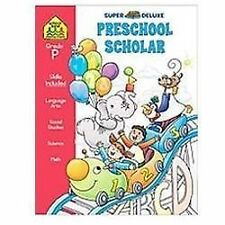 School Zone - Preschool Super Scholar Workbook - 128 Pages, Ages 3 to 5, Prescho