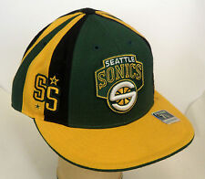 NBA Seattle Supersonics Reebok Cap Hat Fitted Team Headwear Pick Your Size NEW!