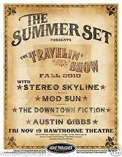 SUMMER SET/STEREO SKYLINE/MOD SUN/AUSTIN GIBBS 2010 PORTLAND CONCERT TOUR POSTER