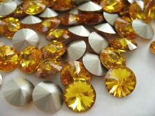 12 Sunflower Foiled Swarovski Crystal Rivoli Stone 1122 39ss 8mm