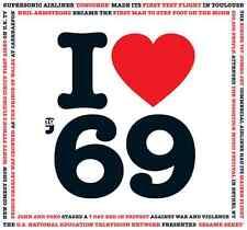49th Compleanno Regalo D'ANNIVERSARIO-I Love 1969 COMPILATION CD BIGLIETTO D'AUGURI ANNO