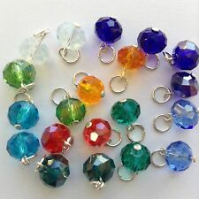 10 Pairs Sterling Silver Crystal charms For Earrings, Chain Braceles & Necklaces
