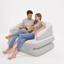 Inflatable Multi-Functional Double Sofa Bed Mattress  Couch Flocked Air