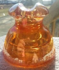 New ListingBeautiful ! Vnm Marigold Carnival Cd 234 Pyrex 63 Insulator