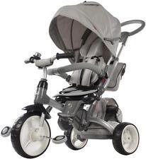Kinderwagen Dreirad Kinderfahrad für Kinder 1-6 Jahre Schiebstange Grau TOP!