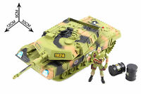 Army Tank Patrol Squad Action Figure Soldier Set Military Vehicle Power Cannon