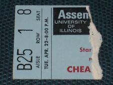 Rare Cheap Trick Concert Ticket Stub 1980 Assembly Hall Univ Illinois Champaign