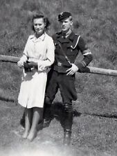 WW2 Photo WWII Portrait of Wartime German Couple  World War Two Wehrmacht / 2476