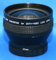 0.5X WIDE Converter 55mm Thread Lens Attachment CCTV-ViDEO SLR DSLR Camera JAPAN