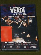 A PASSION FOR VERDI WITH JOSE CURA DANIELA DESSI LONDON SYMPHONY TDK DVD New