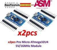 2pcs Pro Micro ATmega32U4 5V/16MHz Module with Pin Header ENVIO RAPIDO