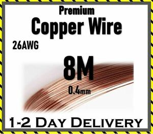 Copper Wire 26 AWG 0.45mm Soft for Jewellery Craft Modeling 8M