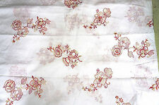 Cotton Dotted Swiss Fabric Embroidered Floral  Voile White Bfab