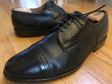 Allen Edmonds Mens Sanford Captoe Leather Brogue Dress Shoes Black Size 10