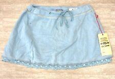 NEW Da Nang Women's Drawstring Azure Short Skirt SFG295 MEDIUM/ M