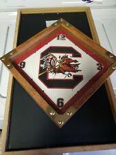 University of South Carolina Gamecocks Glass Face Wall Clock Wooden Metal Frame