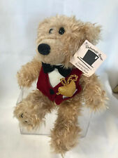 Plush Teddy Bear With Red Vest, Black Bow Tie And Gold Pocket Watch, Debonair