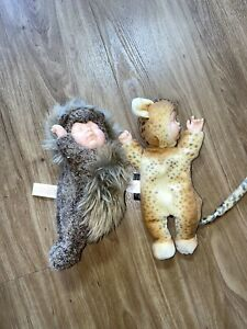 Vintage Anne Geddes Plush Lot Of 2 2000