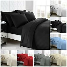 100% Egyptian Cotton 200TC Satin Stripes Duvet Cover Sets / Sheets / Pillowcases