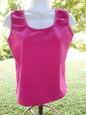 Choices Petites Pink Cotton Blend Scoop Neck Sweater Knit Sleeveless Top Size PL