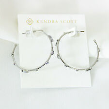 Kendra Scott Rhoan Silver Hoop Earrings in Lilac Mix NEW