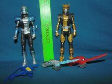 POWER RANGERS Beast Morphers Silver & Gold Rangers - figures lot weapons