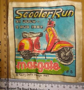 Scooter Rally Patch 1987 Margate Paddy Smith Original