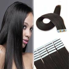 """Showjarlly 18"""" Seamless Remy Tape in Real Hair Extensions Human Hair Off Black"""