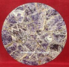 "18"" Inch Amethyst Stone Center Table Tops, Gemstone Amethyst Coffee Table Tops"