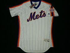 Authentic New York Mets 1986 World Series TBC Throwback FLEX BASE Jersey RARE 44