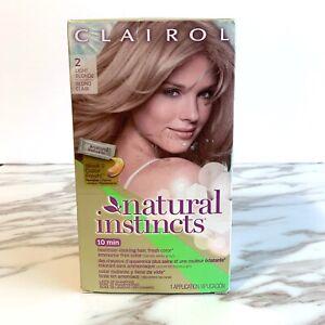 Clairol Natural Instincts 10mins Hair Dye 2 Light Blonde - New