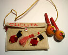Vintage Souvenir From Cucuta Colombia Little Purse w/ Maracas & Sandals ExcCond