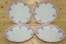 """Vohenstrauss Johann Seltmann Pink (4) Soup or Salad Bowls, 8 7/8"""""""