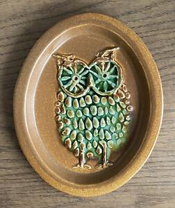 Bennington Potters Vermont Owl Wall Plaque  David Gil Design Mid Century Art