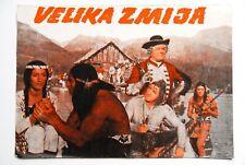CHINGACHGOOK GOJKO MITIC 1968 WESTERN RARE EXYUGO MOVIE PROGRAM WINNETOU