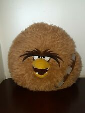 "Chewbacca Angry Birds Pillow STAR WARS 16"" Brown Plush Soft Large Ball Round"