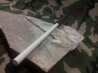 "Arkansas Sharpener Ceramic Knife Sharpening Stick 12"" w/ Wood Made in USA AC46"