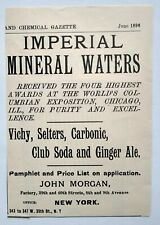 Vintage Advert Embossed Metal Irish Pub Sign Dublin THWAITES MINERAL WATERS