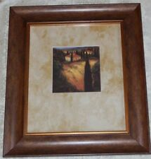 Framed J. Wiens Art PRINT Tuscan Italian Landscape House Large Picture