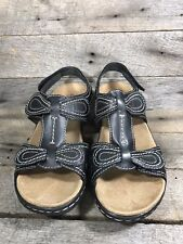 Clarks Lexi Sandal, Walnut, Women's 6 Shoes Brand New In Box Brown Leather