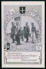 d art signed Political patriotic fund loan rising WWI ww1 war old c1915 postcard