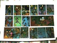 1995 CYBER FORCE ALL-CHROMIUM CYBER OPTICS 18 INSERT CARD SET TOP COW HEATWAVE!