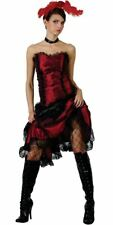 WILD WEST SALOON GIRL COSTUME CAN CAN BURLESQUE FANCY DRESS
